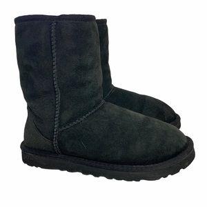 UGG Classic Short II Black Boots Size 7
